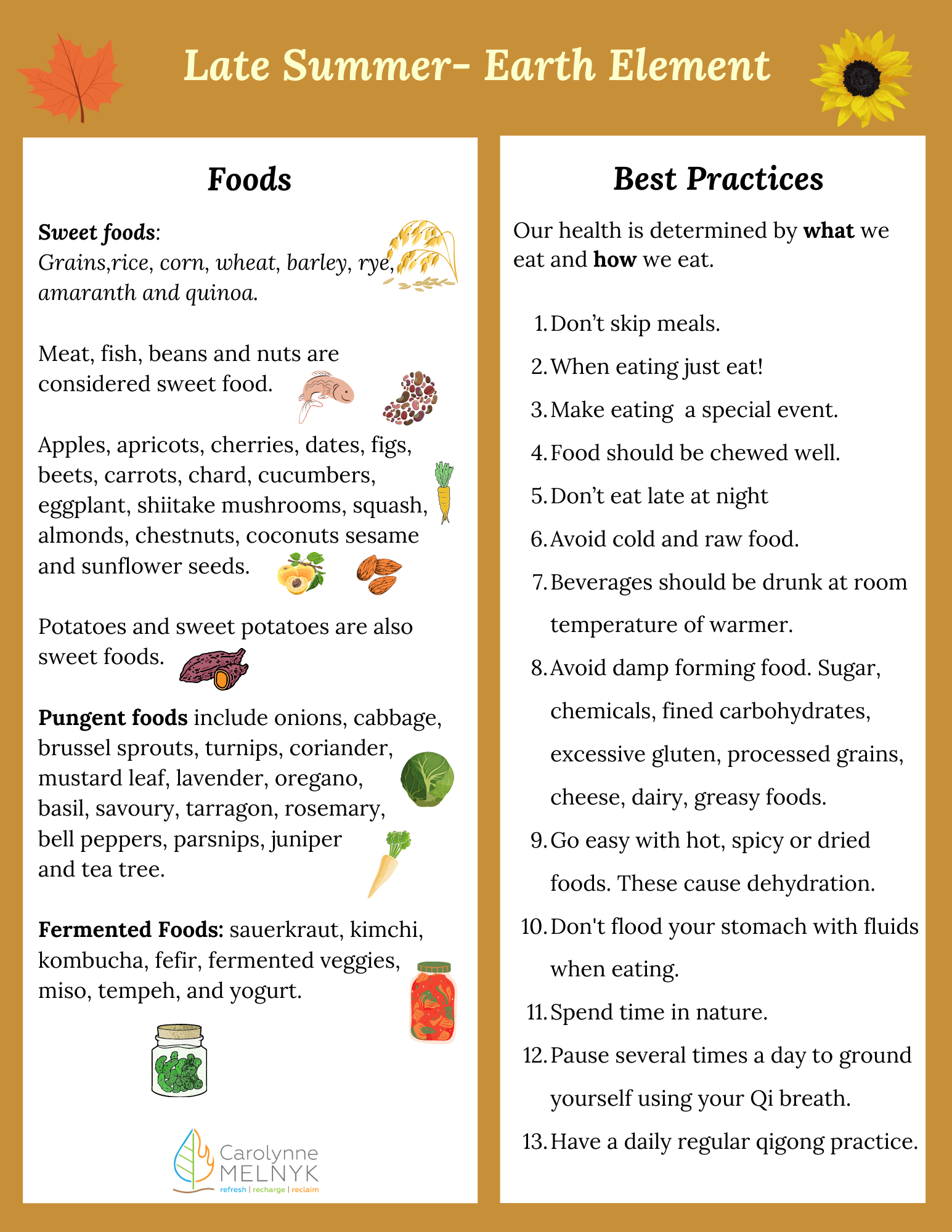 Late summer food/best practices