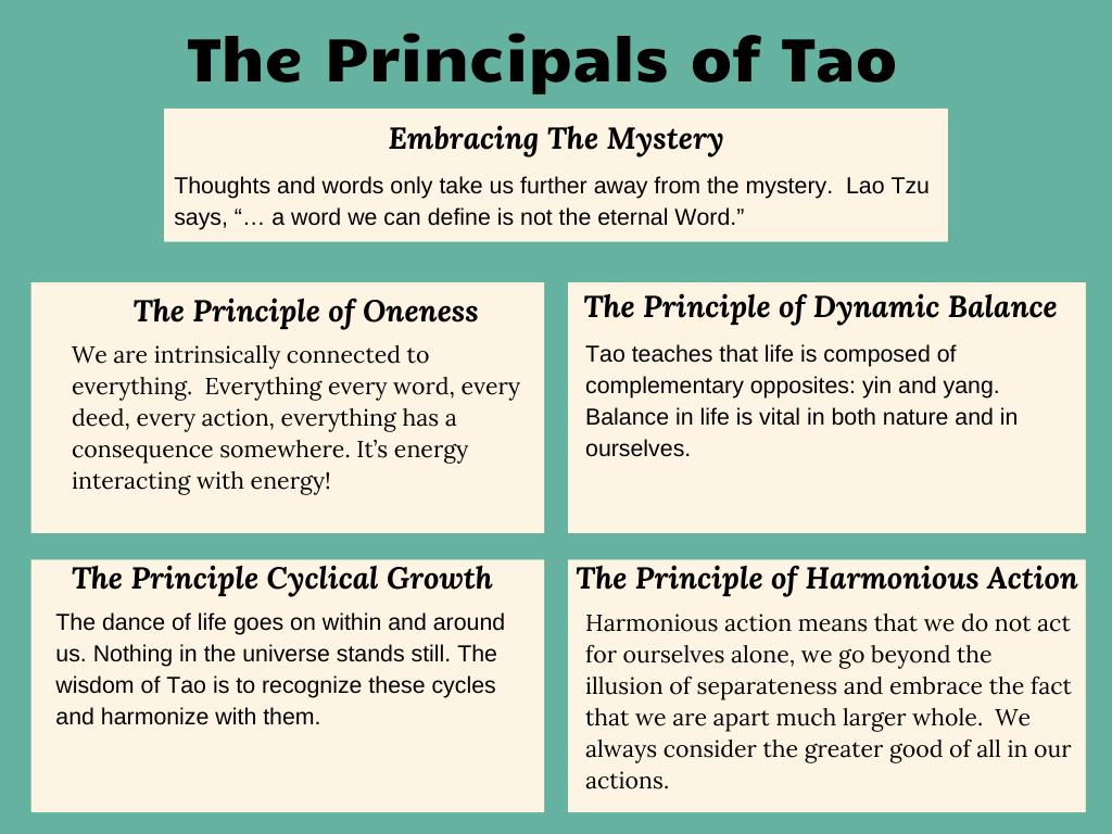 The Principles of Tao